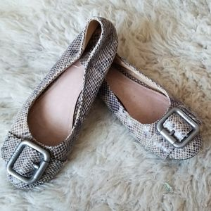 Fossil snakeskin flats shoes